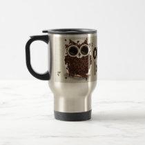 Coffee Bean Owl Art Travel Mug