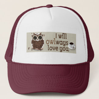 Coffee Bean Owl Art Trucker Hat