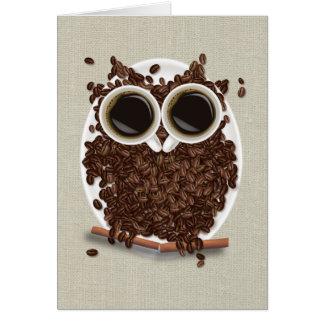 Coffee Bean Owl Card