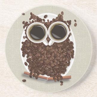 Coffee Bean Owl Drink Coaster