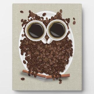 Coffee Bean Owl Plaque