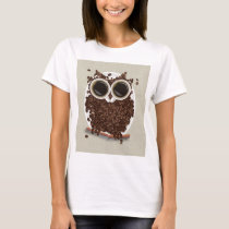 Coffee Bean Owl T-Shirt