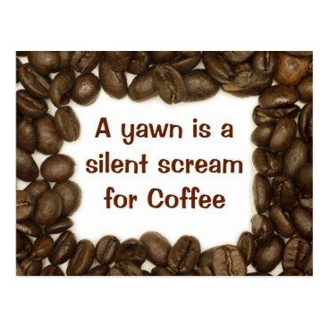 lycheerose Coffee bean postcard