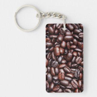 Coffee Bean Template - Customized Dark Roast Beans Double-Sided Rectangular Acrylic Keychain