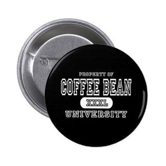 Coffee Bean University Dark Pinback Button