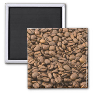 Coffee Beans 2 Inch Square Magnet