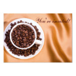 "Coffee beans 5"" x 7"" invitation card"