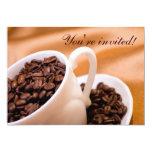 Coffee beans 5x7 paper invitation card