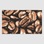 Coffee Beans Abstract refreshment restaurant coca Rectangular Stickers
