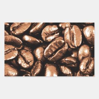 Coffee Beans Abstract refreshment restaurant coca Rectangular Stickers