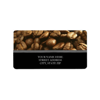 Coffee Beans Address Labels