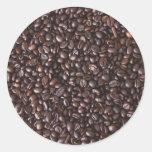 Coffee Beans Adesivo Em Formato Redondo