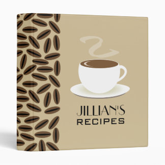 Coffee Beans and Cup Of Cofee Recipe Binder