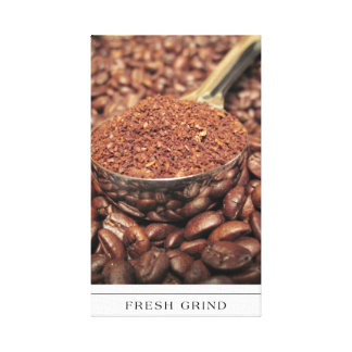 Coffee Beans and Fresh Ground on canvas Canvas Prints