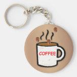 Coffee Beans and Mug Keychain