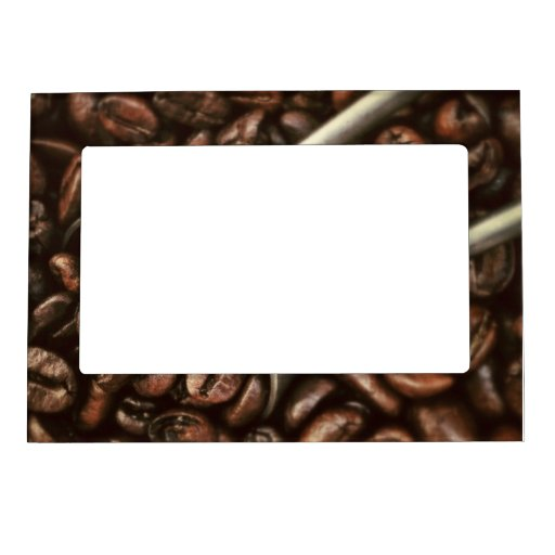 Coffee Beans and Scoop Magnetic Photo Frame