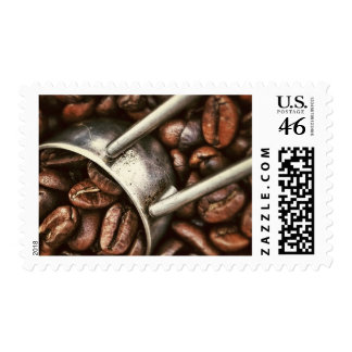 Coffee Beans and Scoop Postage