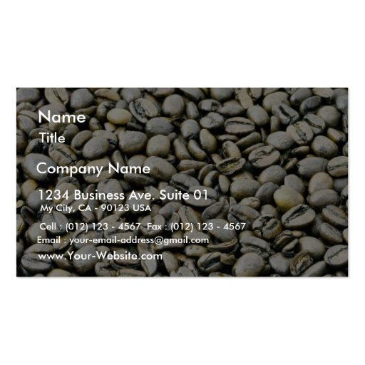 Coffee Beans Background Double-Sided Standard Business Cards (Pack Of 100)