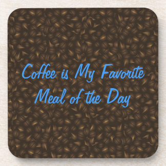 Coffee Beans Background Cork Coaster