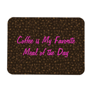 Coffee Beans Background Flexi Magnet