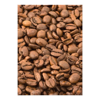 Coffee Beans Background Personalized Invitations