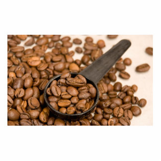 Coffee Beans Background Statuette