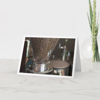 Coffee beans blank notecard, not cover text card