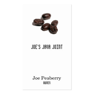 Coffee Beans Business Card Template