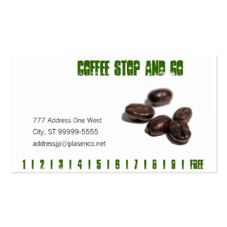 Coffee Beans Business Card