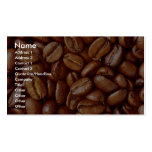 Coffee beans business card templates
