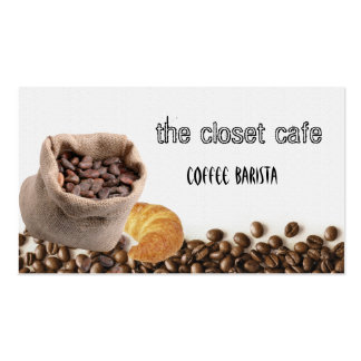 coffee beans business cards