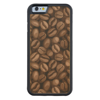 Coffee beans carved maple iPhone 6 bumper case