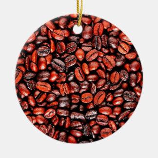 Coffee beans ceramic ornament