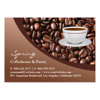 Coffee Beans Chubby Business Card