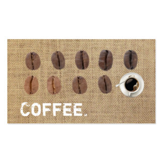 Coffee Beans Coffee Burlap Loyalty Punch Business Card