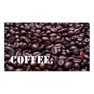 Coffee Beans Coffee Shop Loyalty Punch Business Card