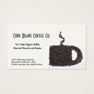 Coffee Beans Cup - Cool Beans! Business Card