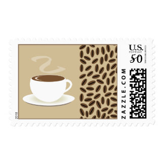 Coffee Beans & Cup Of Coffee Postage