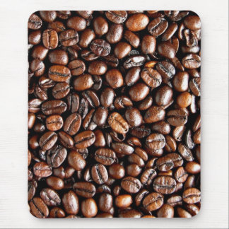 Coffee Beans Dark and Roasted Texture Pattern Mouse Pad