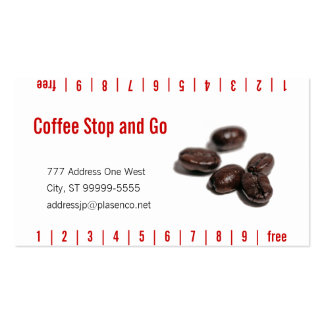 Coffee Beans Double-Sided Standard Business Cards (Pack Of 100)