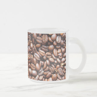 Coffee beans frosted glass coffee mug