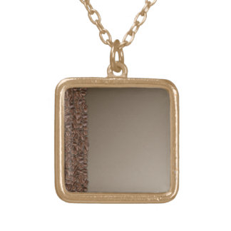 Coffee Beans Gold Plated Necklace