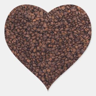 Coffee beans heart heart sticker