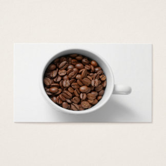 Coffee Beans In A Cup Business Card