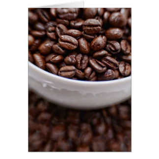 Coffee Beans in a White Cup Card