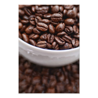 Coffee Beans in a White Cup Photo Print