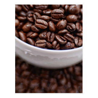 Coffee Beans in a White Cup Postcard