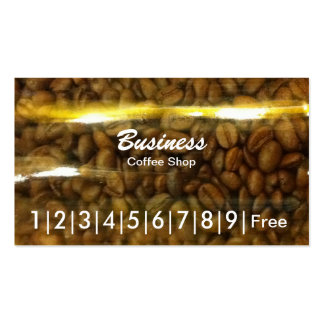Coffee Beans in Jar Coffee Business Loyalty Cards