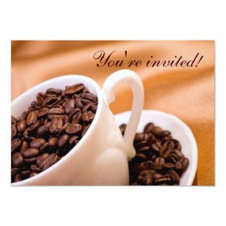 Coffee beans custom invite