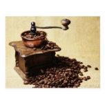 Coffee beans Kaffeemühle Post Card